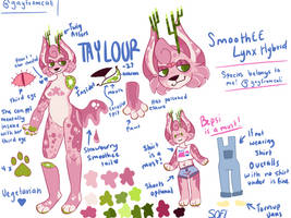 Taylour's Ref Sheet of 2019 by Gayfromcali