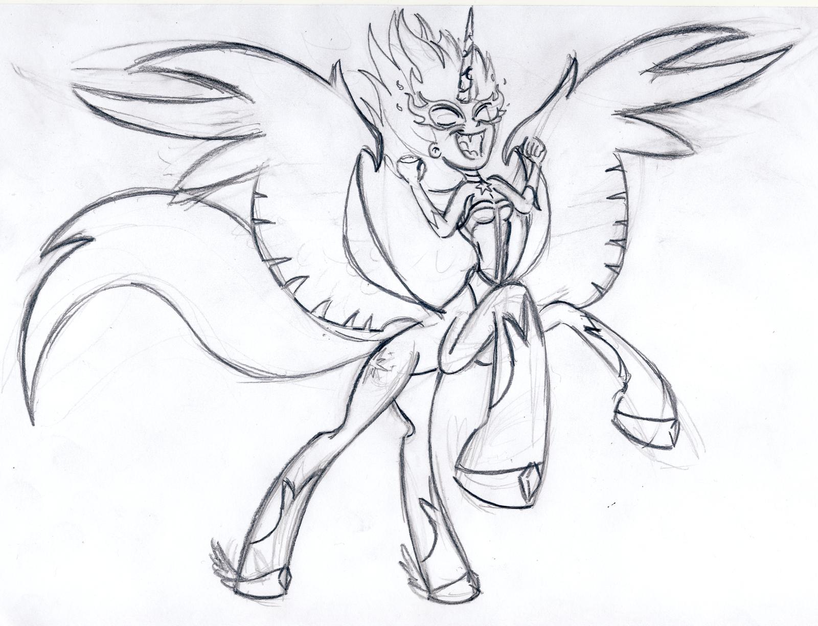 Midnight Sparkle Sagittarius Sketch By BBBHuey On DeviantArt