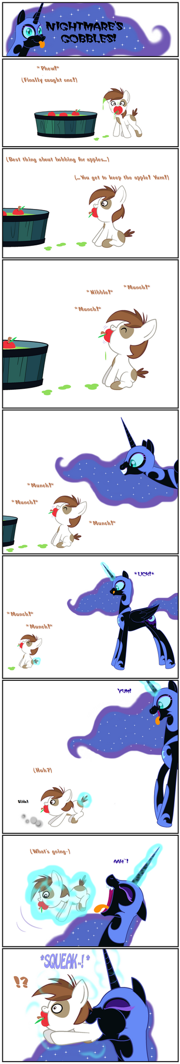 Nightmare's Gobbles: Pip the Apple (2/10) by BBBHuey