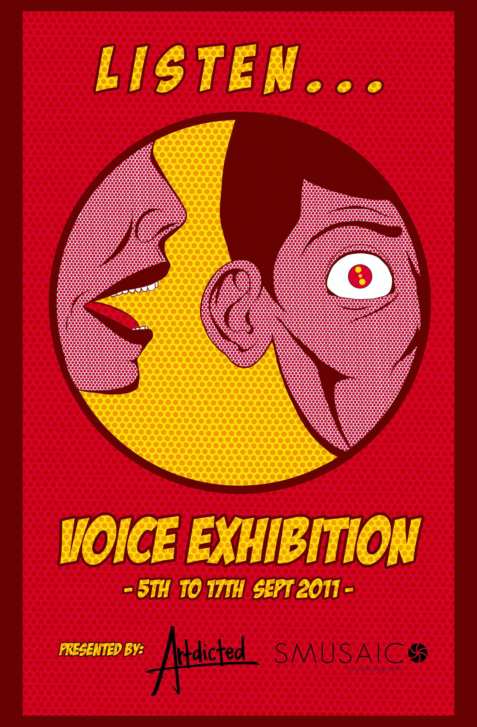 Listen - Exhibition Poster by desmondloo