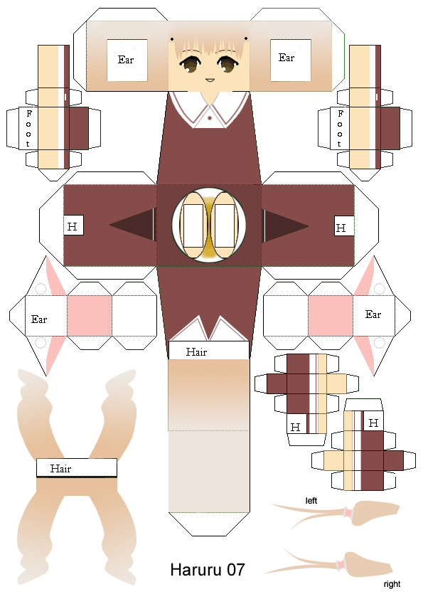 Papercraft Link Template Chii Papercraft Template by