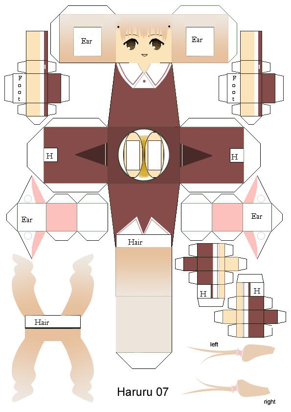 Chii Papercraft Template By Haruru On DeviantArt