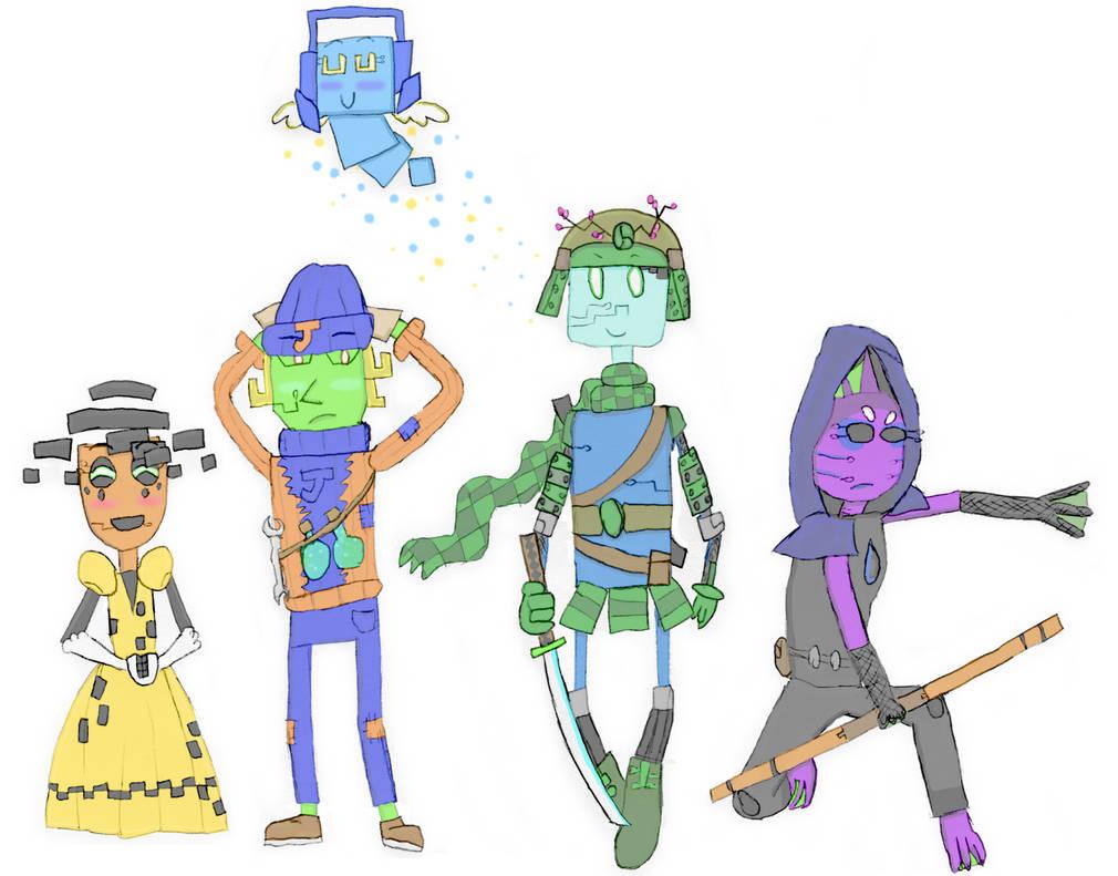 Server Quest doodles - Heroes poster