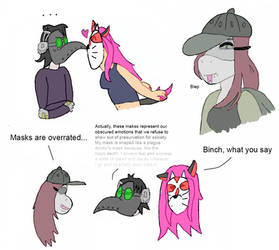 Ventsonas and OC doodles by RobotnikHolmes