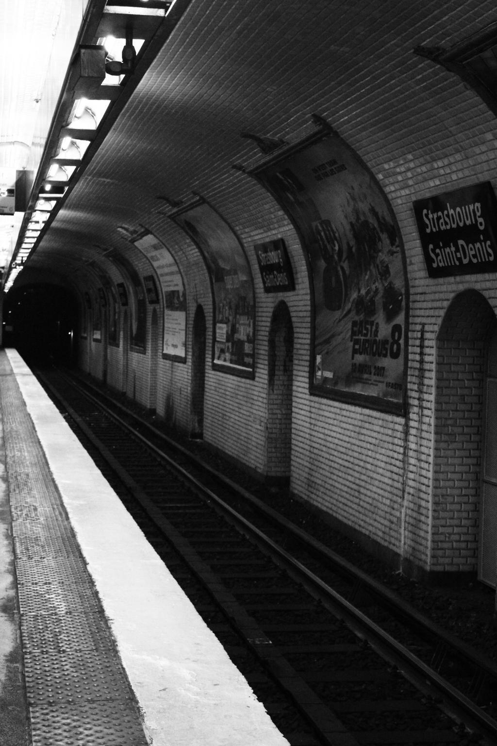 Subway station strasbourg saint denis in paris by - Lidl strasbourg saint denis ...