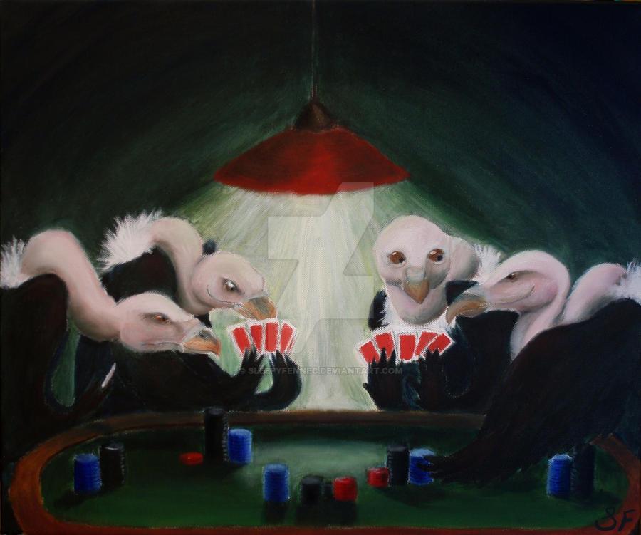 Vulture Poker by SleepyFennec