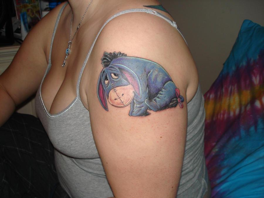 Eeyore tat by xdeathlybeautyx on deviantart for Tenth street tattoo