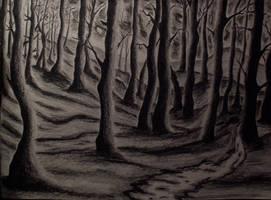 midnight trees by Heyve