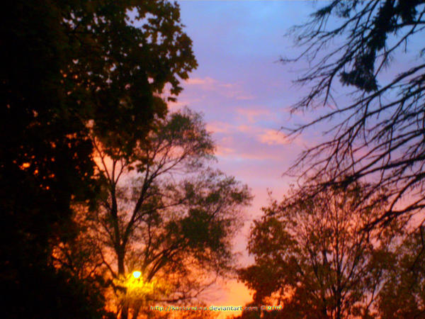 A Colourful Evening Sky by Kostandina