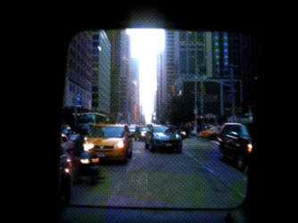 Window taxi or TV screen by blackscreen