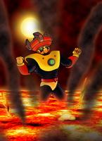 Mega Man 10 Solar Man Drawing by Espiownage