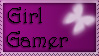 Girl Gamer STAMP by stamps-for-everyone