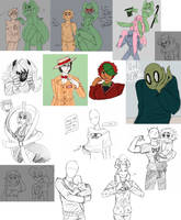 assorted doodles 003 by cakesdown