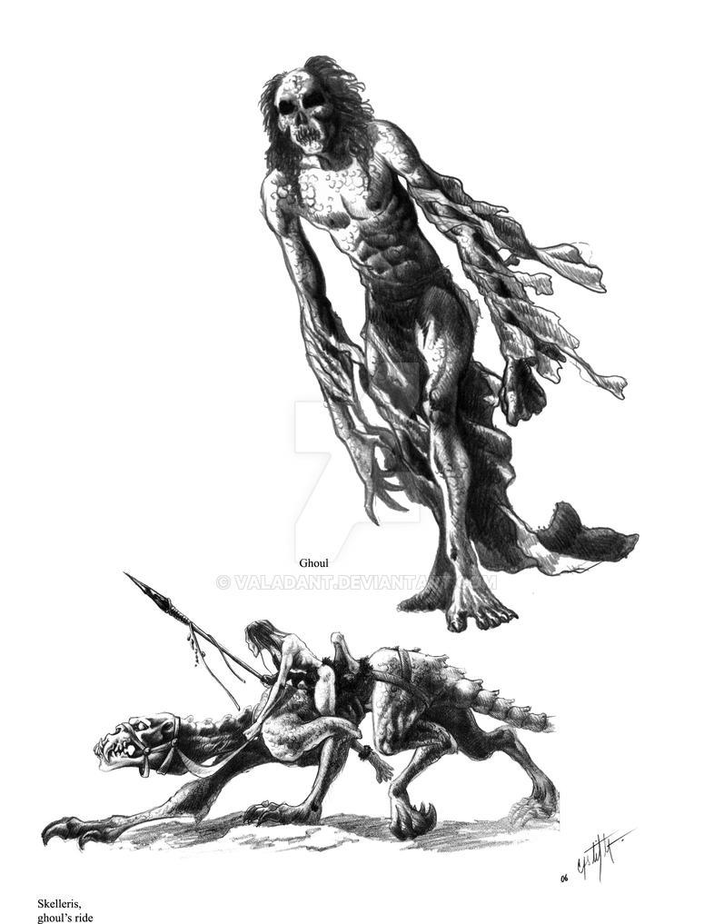 Ghoul and Skelleris by valadant