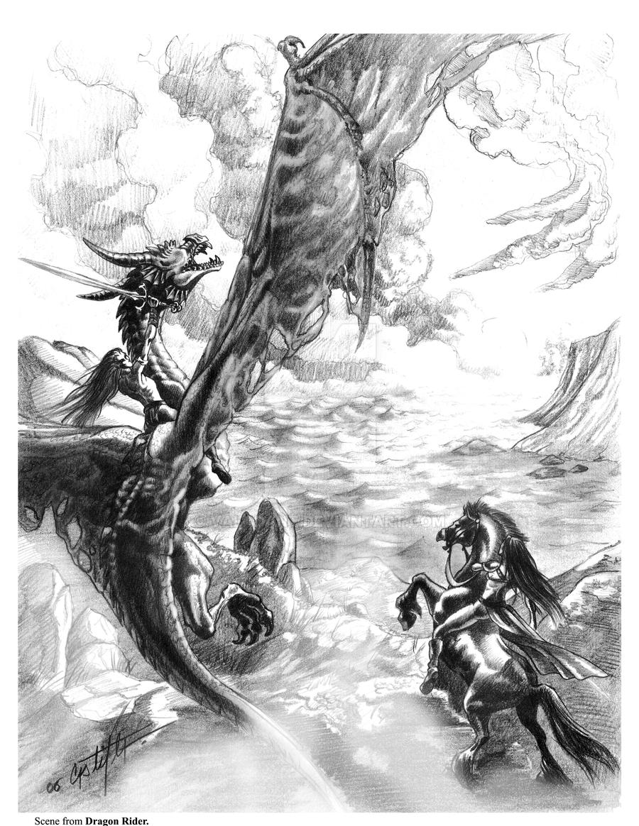 Scene of Dragon Rider 2 by valadant