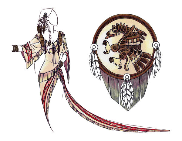 Lakota Wedding Gown by valadant