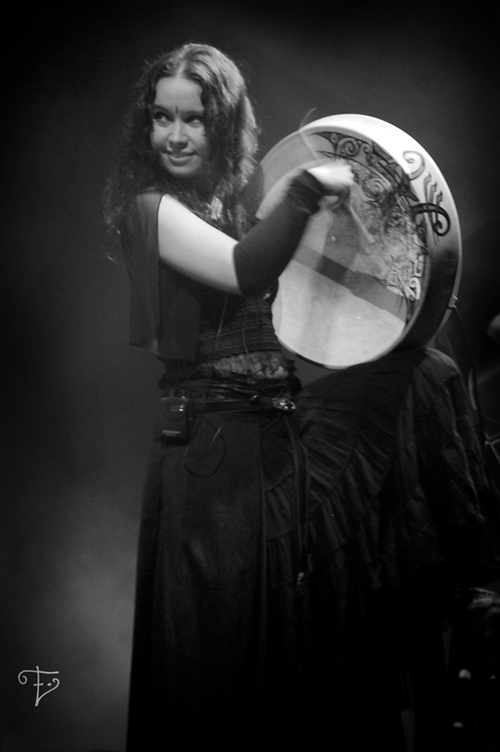 Jenny with Bodhran by Elfland