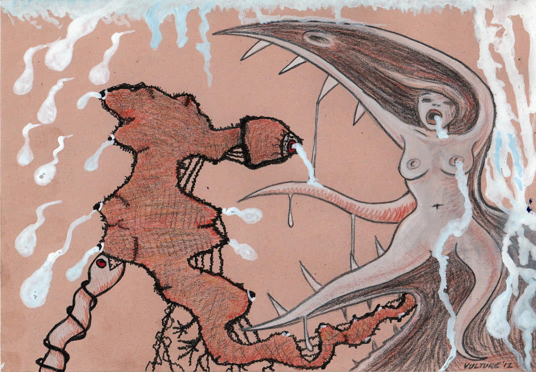 trouser snake vs birdgirl by offermoord on deviantart