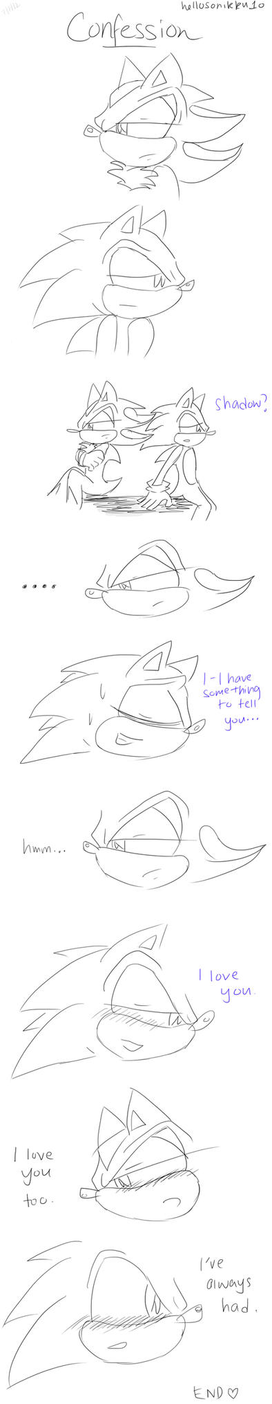 Sonadow mini comic- Confession by hellosonikku10