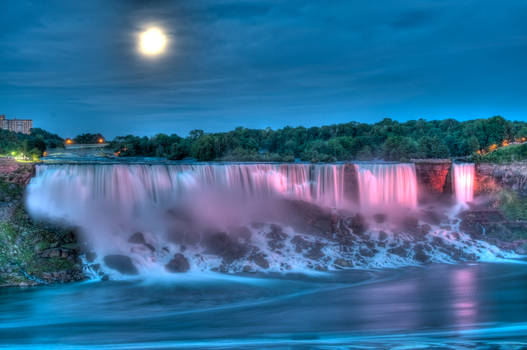 Full Moon over the Falls