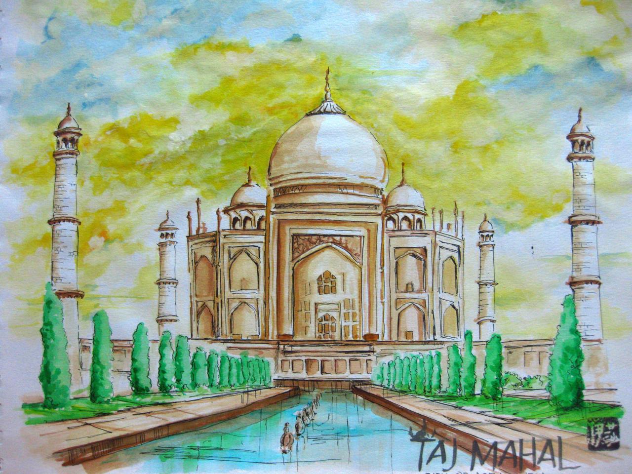 Taj Mahal by Budettyy on DeviantArt