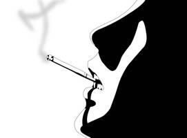 Onizuka is smoking