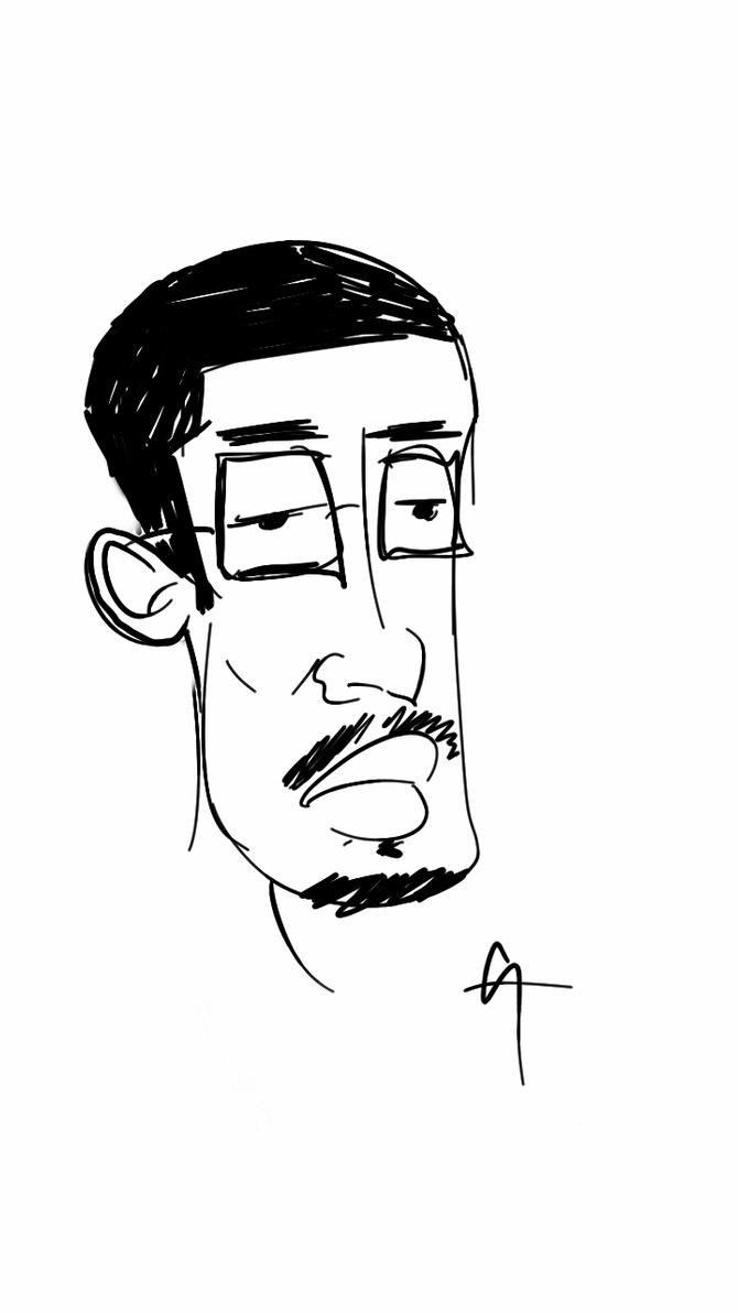 Note 3 sketch Caricature by GreggAllenArt