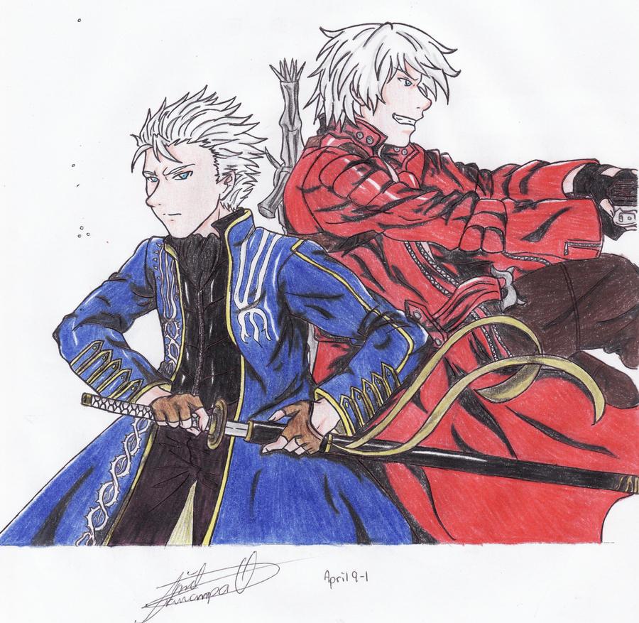 Dante Y Vergil By KuroNeko-art On DeviantArt