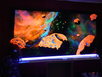Blacklight painting in my studio by fluorencia