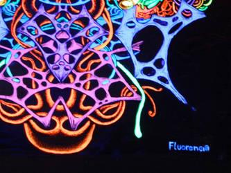fRACtalik(blacklight art) by fluorencia