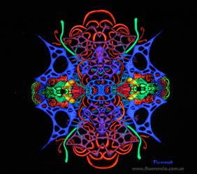 fRACtalik (blacklight art) by fluorencia