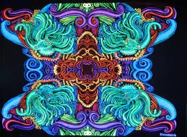 fRACtalik I (blacklight art)