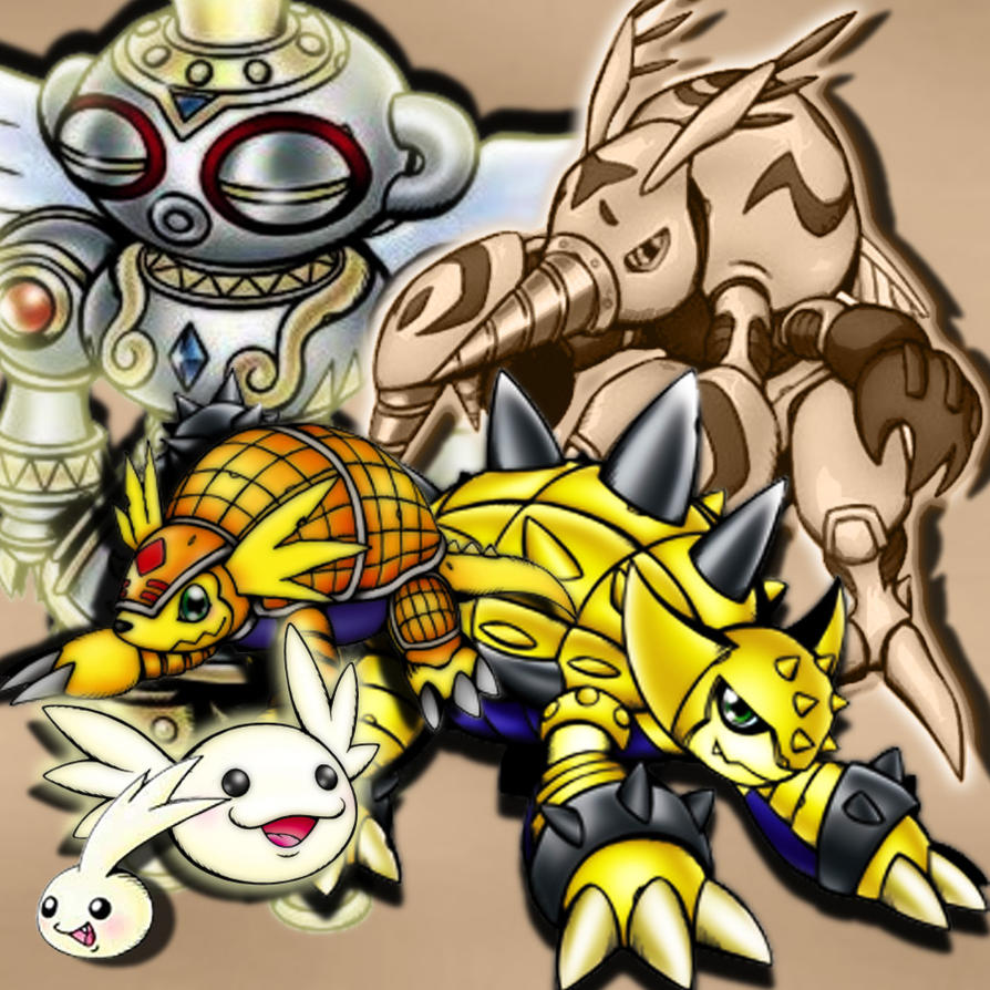 Armadillomon Evolution by xLady-Mizu on DeviantArt