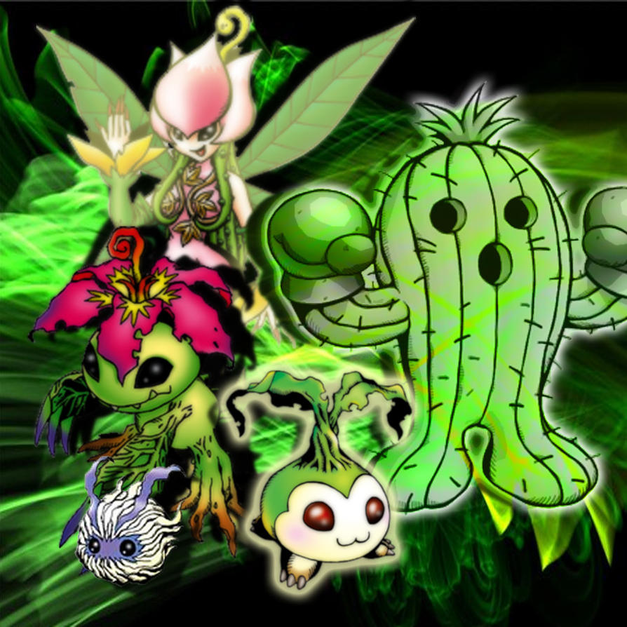 Palmon Evolution by *KaelinT on deviantART