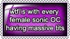 Female Sonic OC's Stamp by xLady-Mizu