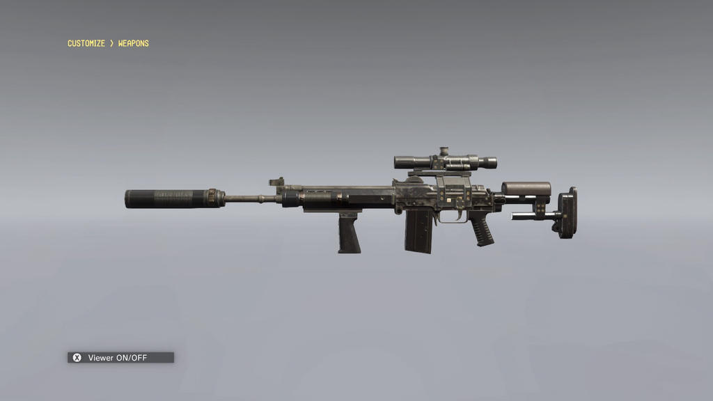 MGSV TPP Custom Sniper rifle by Jokerben21 on DeviantArt M14 Ebr Rifle