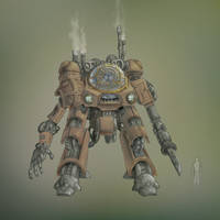 Steampunk Mecha 2 by gabmonteiro9389
