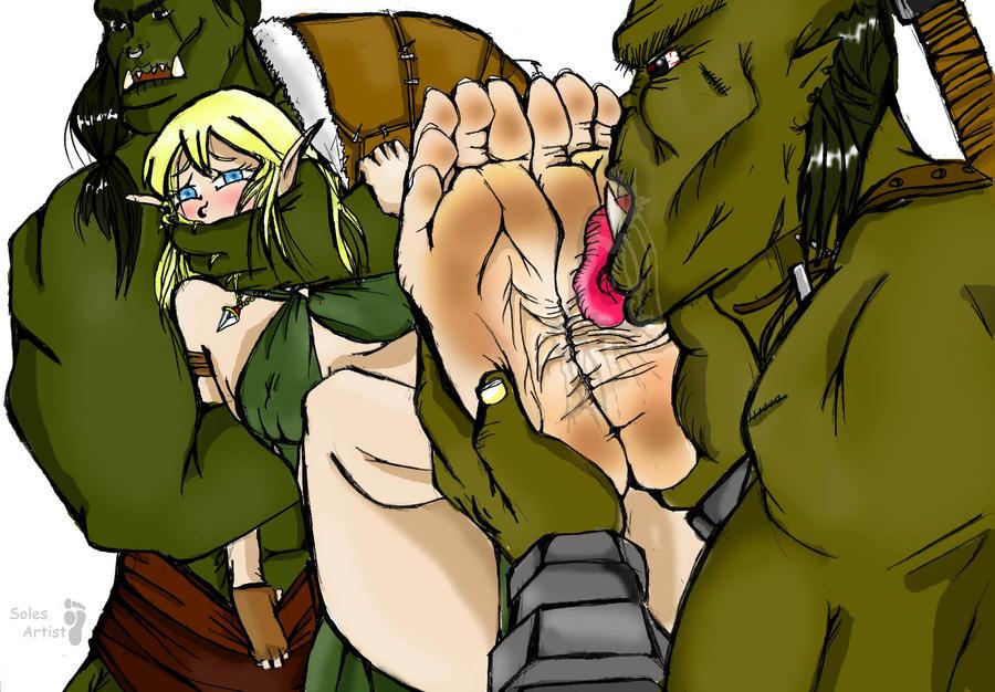 girls tickled lick feet