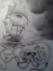 Cthulhu clipper ship by JKatanic