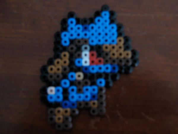 Perler bead riolu by redjazzangel7021