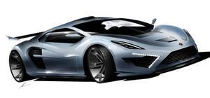 Gumpert Helios supercar concept sketch