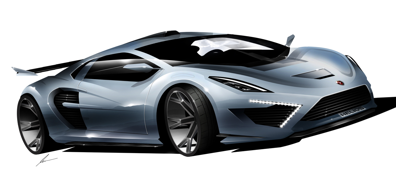 Gumpert Helios supercar concept sketch by pietrekm