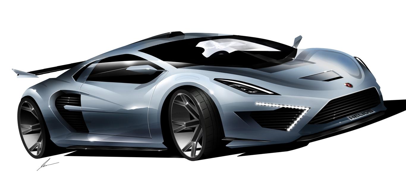 Gumpert Helios supercar concept sketch by pietrekm