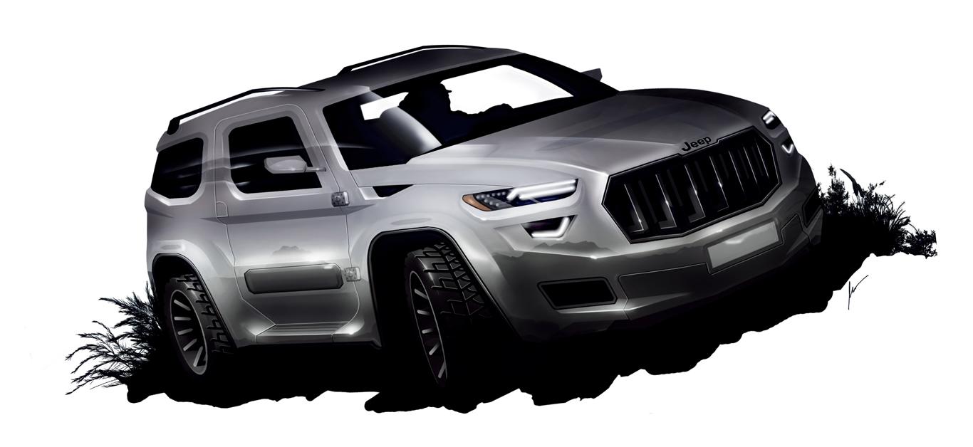 Jeep Delaware concept sketch by pietrekm