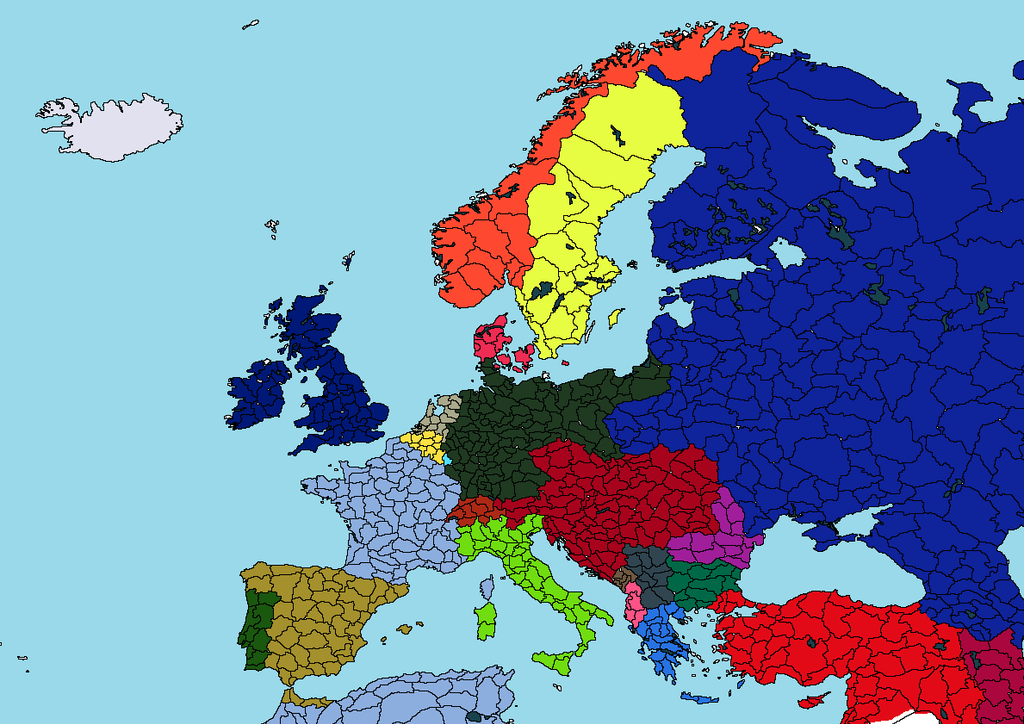 Europe Map in 1914 by SunnyKhan688 on DeviantArt