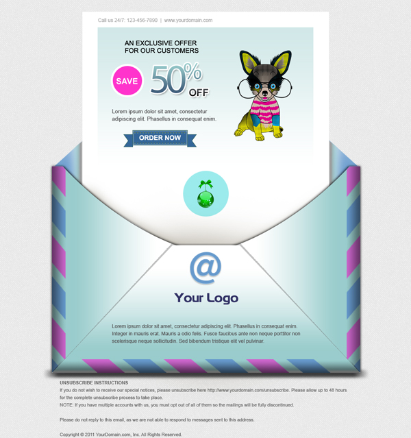 Your Logo Beautiful Email Newsletters