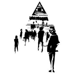 People following the eye of providence