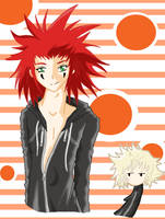 Axel's too sexy for his coat. by DominoXDoodle
