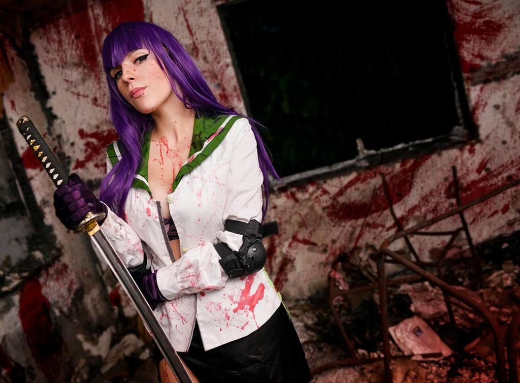 Saeko: Bloody mess. by MoonFoxUltima