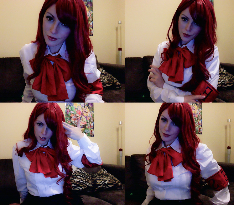 Mitsuru: P3. Costume throw together + Makeup test! by katyuskamoonfox
